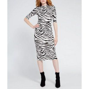 Alice + Olivia - Delora Zebra Print Midi Dress-NWT
